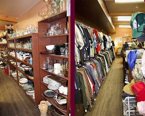 Ravalli Services Thrift Store Clothing Dishes